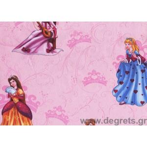 Ταπετσαρία  χαρτί Πριγκίπισσες ροζ