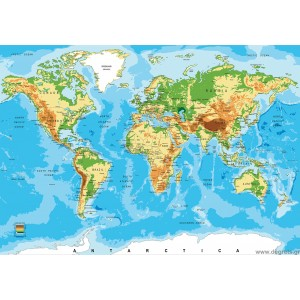 Φωτοταπετσαρία Παγκόσμιος Χάρτης 3