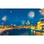 φωτογραφία Ταπετσαρία τοίχου Foμεri de artificii asupra orasului