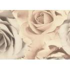 Ταπετσαρία τοίχου PVC Τριαντάφυλλα Μπεζ