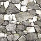 Ταπετσαρία αδιάβροχη Πέτρα τοίχο 3D γκρι