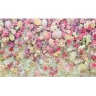 Φωτοταπετσαρία 3D τείχος λουλουδιών