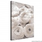 Εικόνα Canvas Λευκά Τριαντάφυλλα - Vintage 3D L