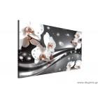 Εικόνα Canvas Αφηρημένη Ορχιδέες 3 3D L