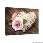 Εικόνα Canvas Αγάπη - Λουλούδια 2 L