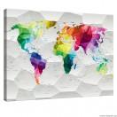 Εικόνα Canvas Παγκόσμιος Χάρτης 3D