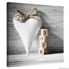 Εικόνα Canvas Αγάπη - αφηρημένη 3D