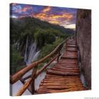 Εικόνα Canvas Γέφυρα κοντά στον καταρράκτη