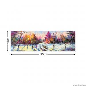 Εικόνα Canvas Χειμώνας - δασικό τοπίο XL