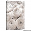 Εικόνα Canvas Λευκά Τριαντάφυλλα - Vintage 3D S