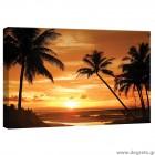 Εικόνα Canvas  Φοίνικες- ηλιοβασίλεμα S