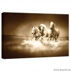 Εικόνα Canvas Άλογα σέπια