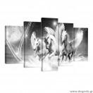 Σετ Εικόνα Canvas 5 κομμάτια Άλογα Πήγασος