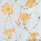 Ταπετσαρία χάρτινη Lily πορτοκαλί