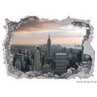 Αυτοκόλλητο Νέα Υόρκη ουρανοξύστες 3D 65x90 εκ.