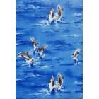 Ταπετσαρία τοίχου PVC Δελφίνια κλουβί Μπλε