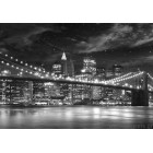 φωτογραφία Ταπετσαρία τοίχου Podul Brooklyn Λευκό-Μαύρο