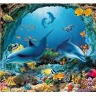 Φωτοταπετσαρία Δελφίνια στη θάλασσα