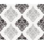Ταπετσαρία βινυλίου Βενετία 1 3D λευκό-μαύρο
