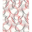 Ταπετσαρία βινυλίου Ara κύκλο 3D κόκκινο