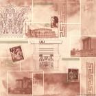 Ταπετσαρία PVC Ρώμη - Versace μπεζ