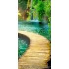 φωτογραφία Ταπετσαρία τοίχου drumul spre cascada